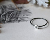 Weaver Drop Silver Ring- made to order