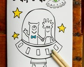 Wedding Coloring Book - Ring Bearer Activity book, Wedding Activity book for BOYS! - Kids Favor -Printable book #weddingcoloringbook