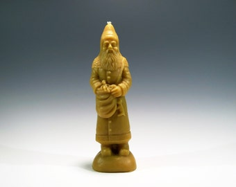Beeswax Santa Belsnickle Candle Cast Using An Antique Chocolate Mold