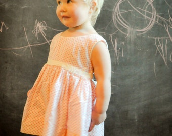 Vintagen 1960s Sundress Pink Polka Dot Toddler Sleeveless Dress