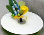 Gingham Guitar and Pick Boutonniere, 9 Colors Available