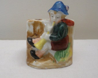 Vintage Occupied Japan Young Boy Planter