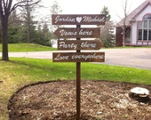 wedding signs, directional signs, wood wedding signs, personalized sign, outdoor wedding sign, beach wedding, rustic wedding sign