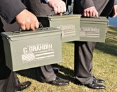 Ammunition Box for Personalized Groomsman Gift, 50 Caliber Ammo Can, Father of the Bride / Groom, Best Man Gift, Custom Groomsmen Gift