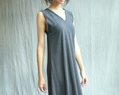 The Double V Dress, Bamboo Jersey, Modern Style- handmade to order