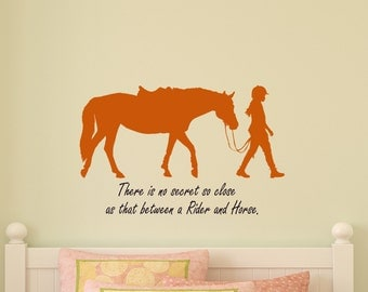 Horse Decal Girl Horse Rider Quote Teen Bedroom Sticker Childs Room Girls Room Western Decor Pony Sport Wall Words Dorm Room 18 X 28 inches