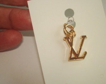 Vintage L V Gold Tone Pendant