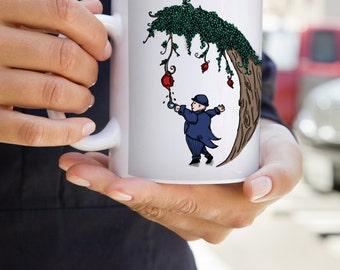 Original Design Mug - Teaman | Tea | Teapot | Teacup | Willow | Illustration