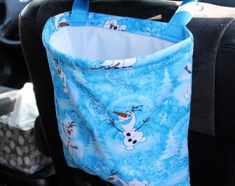 Frozen Olaf Car Trash Bag or Storage