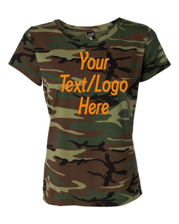Custom Code V Ladies 39 Camouflage T Shirt 3665 By Jeylafashions