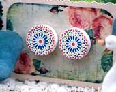 Buy 1 Get 1 Free - 20pcs 15mm (WC17) Round Handmade Photo Wood Cut Cabochon (Back White)