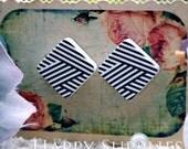 Buy 1 Get 1 Free - 20pcs  (WB26)  Diamond Handmade Photo Wood Cut Cabochon (Back White)