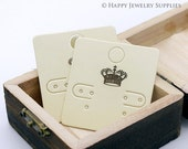 50X50MM White Paper Crown Earring Display Tags/ Earring Display Cards / Earring Holder, Jewellery Supplies, Packaging (TAG21)