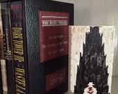 The Dark Tower, Stephen King, Roland Deschain, Gilead, gunslinger, rose, picture, silhouette, wood sign, Ka, reader gift, unique
