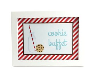 Milk and Cookies Party Sign, Milk and Cookies Birthday Sign, Milk and Cookies Sign, Milk and Cookies Party Decoration - 5x7