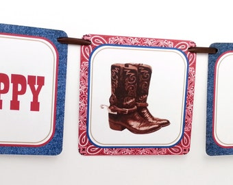 Cowboy Party Banner, Western Party Banner, Cowboy Banner, Cowboy Party Decoration, Western Party Decoration