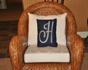 Ginormous Monogram Embroidery Font