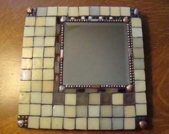 MOSAIC MIRROR - Square Iridescent Mirror
