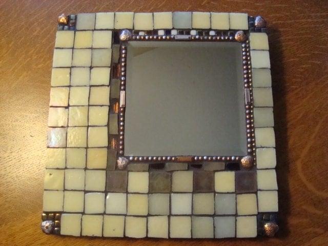 MOSAIC MIRROR Square Iridescent Mirror