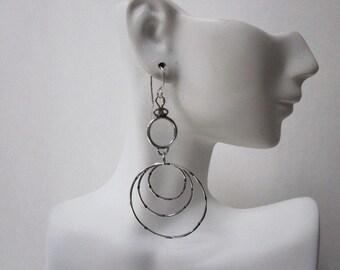 Bella's Hammered Hoop Earrings