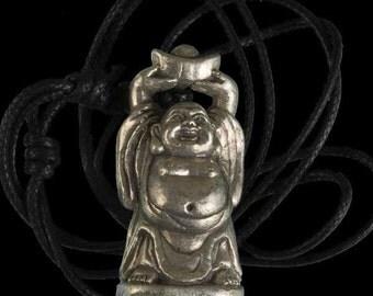 Tribal jewellery, Buddha pendant, Silver coated Brass pendant, Charm pendant, Ethnic pendant, Tribal pendant, Buddha, yoga jewellery. tribu.