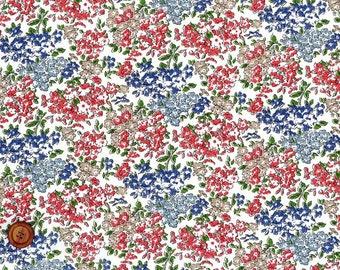Tom, Liberty Tana Lawn Fabric, Liberty of London, Liberty Japan, Cotton Print Scrap, Romantic Floral Design, Quilt, Patchwork, kt5050a
