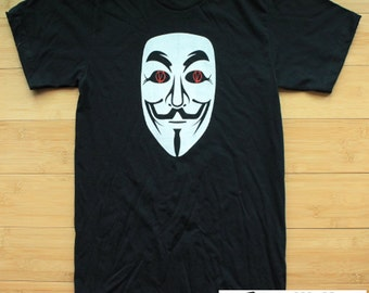 V for Vendetta Guy Fawkes (Double Sided) American Apparel Shirt