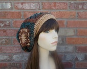 Womens Boho Hat READY To SHIP Slouchy Beanie Slouch Hat Brown Blue Rust Orange Gifts for Teenagers Warm Colors Autumn Fashion Autumn Hat