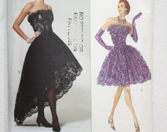 1992 Vogue Designer Sewing Pattern 2877 Victor Costa Dress  in Two Lengths Size 12-14-16