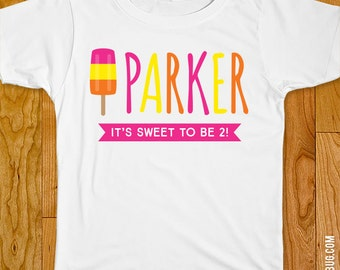 Popsicle Party Iron-On Shirt Design - Choose child or onesie size