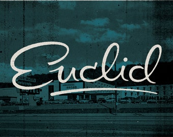 "Euclid - Cleveland, Ohio Print - 12"" x 9"" French Speckletone Madero Beach, Vintage Inspired"