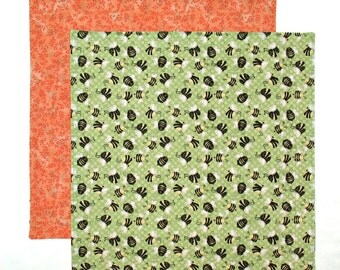 Cloth Napkin, Kids Lunch Napkin, School Lunch Box Napkin, Bumble Bees Fabric Napkin, 1 double sided napkin