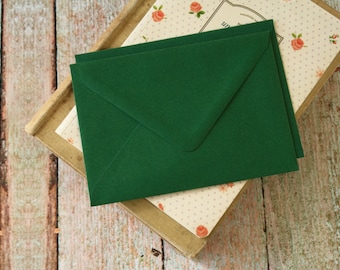 plain Holly Green C6 envelopes