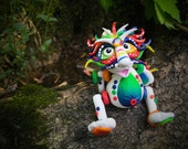 Polymer Clay Dragon 'BowRain' Inspired by Chinese Legend Folklore - Limited Edition Handmade Collectible