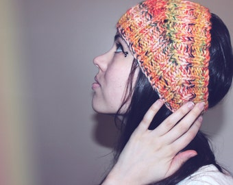 Wool Knit Headband - ribbed + chunky - ear warmer