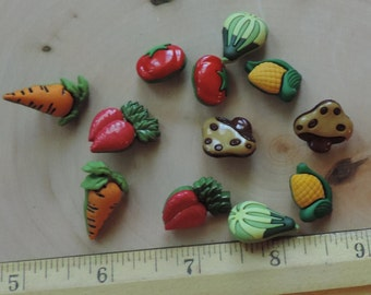Vegetable Veggie Lover Buttons Assorted Button Package by Buttons Galore Style 4092 Veggie Lover