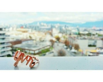 City Series: Vancouver (YVR) // 3d printed ring // rose gold, silver, or gold plated brass // all sizes available // finger party