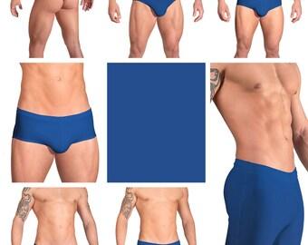 Solid Royal Blue Swimsuits for Men by Vuthy Sim.  Choose Thong, Bikini, Brief, Squarecut, Boxer, or Board Shorts - 08