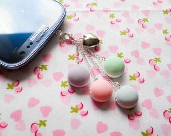Macaroon Phone Charm, Macaroon Dust Plug, Macaron Phone Charm, Macaron Dust Plug, Phone Charm, Dust Plug, Pastel, Macaroons, Lolita, Charm