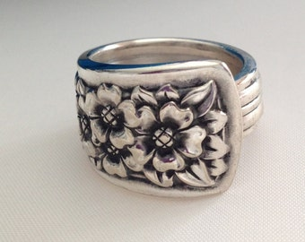 Spoon Ring Silver Belle 1940 Choose Your Size Vintage Silverplate Silverware Jewelry