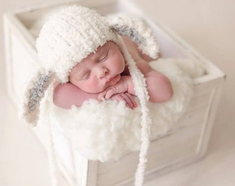 Newborn lamb knitted hat. Newborn photo prop, newborn girl newborn boy