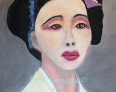 Madam Butterfly, Chalk Pastel Drawing by Trish Vernazza