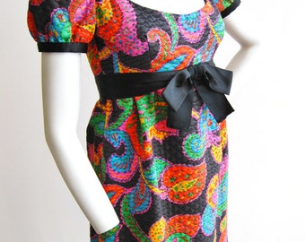 1960s Mollie Parnis Boutique Mod Dress Size Small