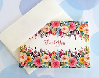 Personalized Note Cards, Thank You Cards - Set of 8