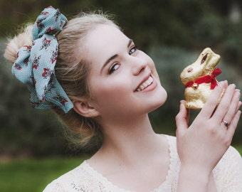 Easter Bunny Hair Scarf, Cute Bunny Headband, Easter Hair Accessory