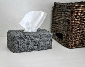 Grey Owl Tissue Box Cover Woodland Nursery Decoration  Home Decor Kleenex Box Cover Custom Colors