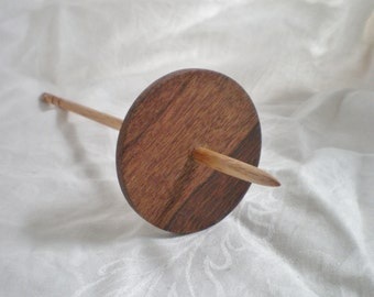 Spiral tip Drop Spindle Moro and Oak  Low Whorl 32g