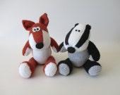 Benjamin Badger and Freddie Fox toy knitting patterns