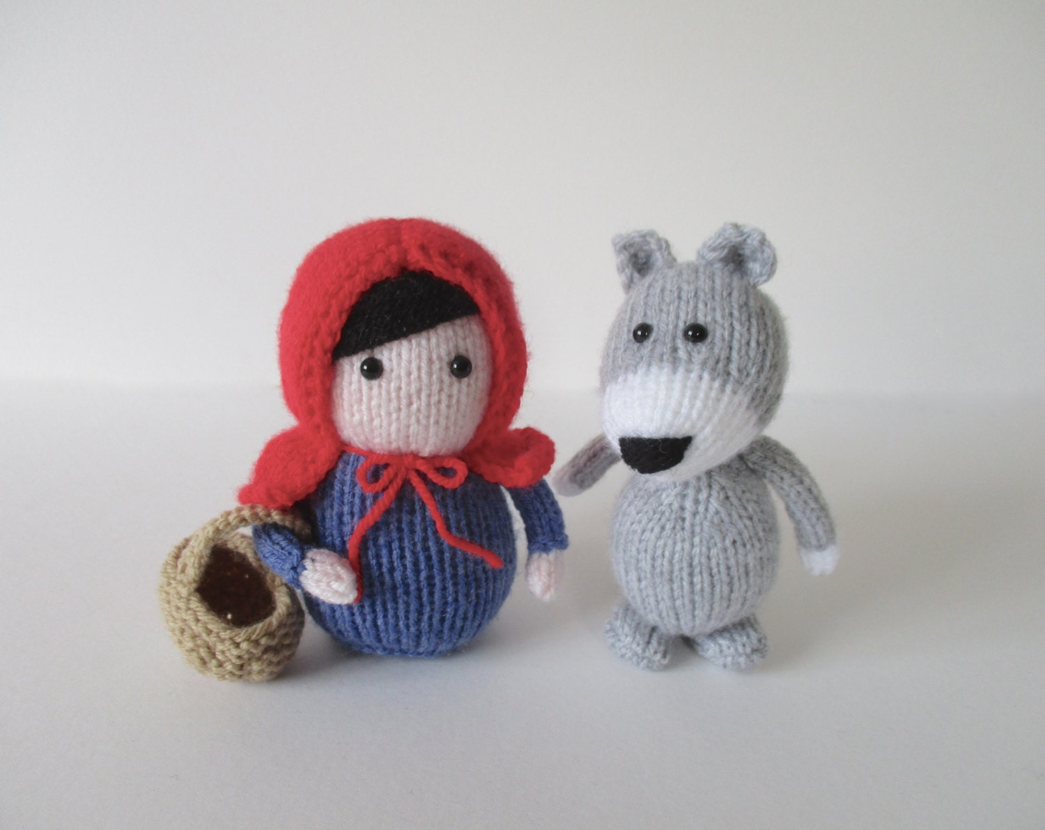 Knitting Pattern For Little Red Riding Hood Doll : Red Riding Hood toy knitting patterns by fluffandfuzz on Etsy