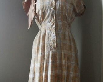 SALE Vintage 40s Butterscotch Dream Dress